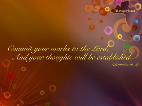 Proverbs 16: 3