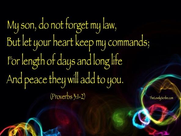 Prov 3: 1-2