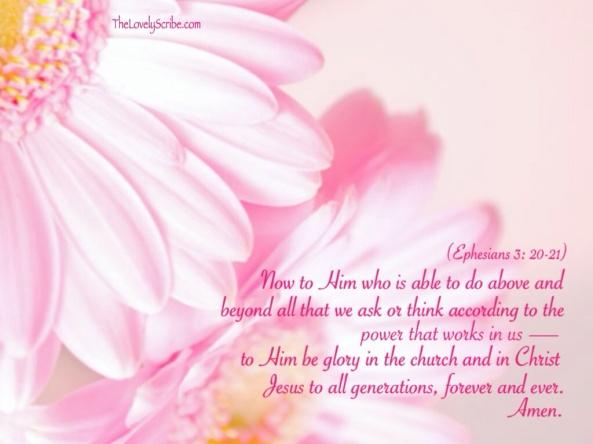 Ephesians 3: 20-21