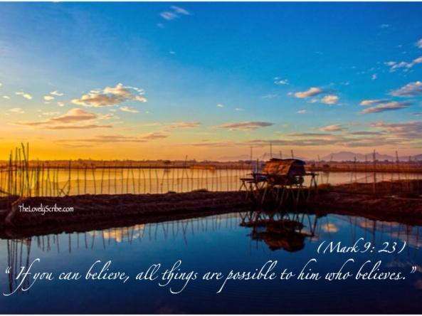 Mark 9: 23