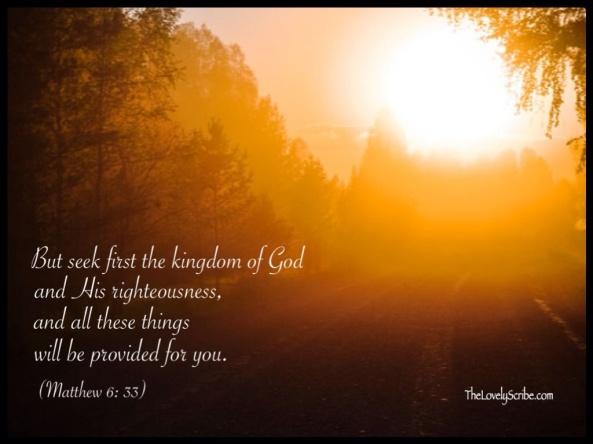 Matthew 6: 33